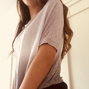 Purple and Grey Ombré Top